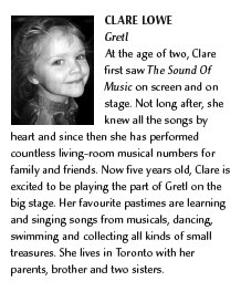 My daughter Clare's Bio for The Sound of Music